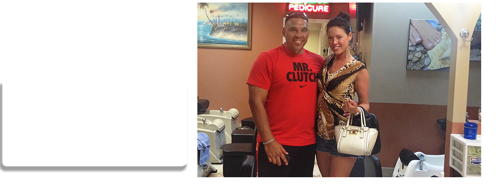Happy couple done with their manicure and waxing